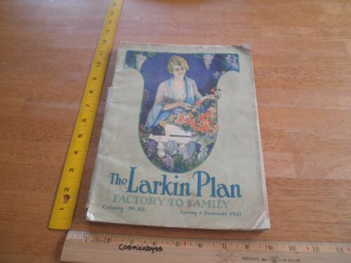 1921 The Larkin Plan catalog #85 furniture clothes household Mission Oak rugs