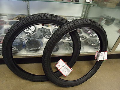 """BMX BICYCLE TIRES BLACK WITH RED LINE 2 TWO DURO 20/""""X1.95 50-406"""