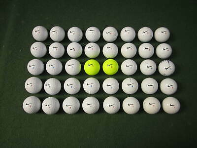 40 NIKE RZN GOLF BALLS - PEARL / GRADE A CONDITION - FREE POST
