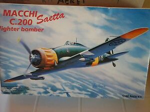 MACCHI-C200-SAETTA-FIGHTER-BOMBER-1-48-SCALE-RESIN-KIT-ASTROKIT-MODEL-PHOTOETCH