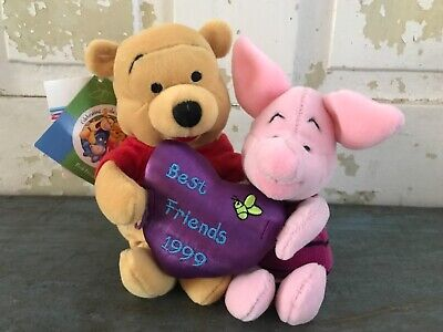 Disney Store Winnie the Pooh Piglet Best Friends Bean Bag Plush Friendship (The Best Bean Bag)