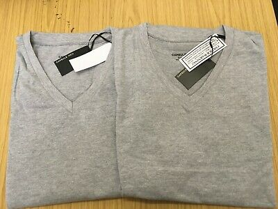 2 pack    plain v-neck  T-shirts  from jacamo 4XL GREY  bnip's