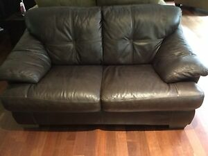 Leather love seat for sale