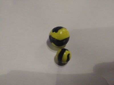 LARGE and Small Vintage Bumble Bee Marbles