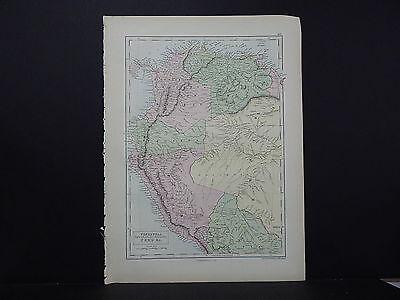 Black's 1876 Atlas, Map, Venezuela, New Granada, Equador, Peru, M2#15