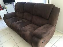 Chocolate Brown 3 Seater Couch with Recliners Gungahlin Area Preview