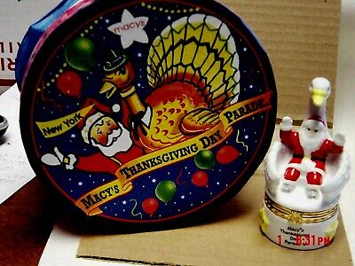 PHB MUD PIE MACY'S THANKSGIVING DAY PARADE SANTA ON SWAN FLOAT TRINKET BOX