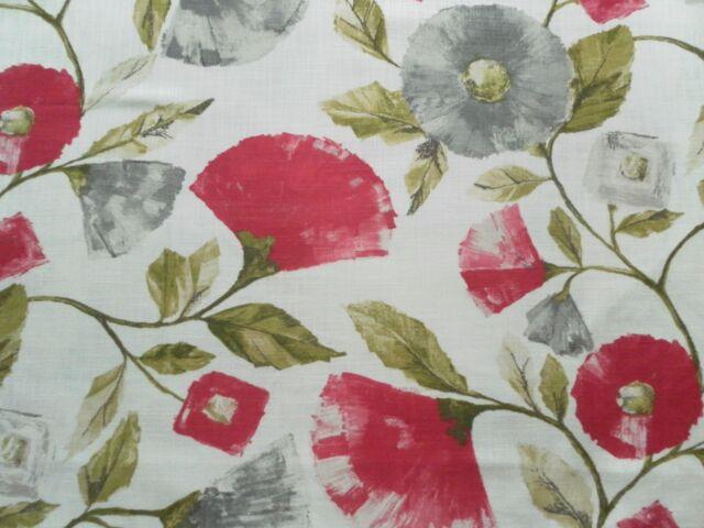 Harlequin Curtain Fabric LISANNE 3.6m Fuchsia/Slate Modern Floral Design 360cm