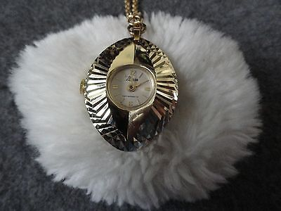 Swiss Made Lady Nelson Anti Magnetic Wind Up Necklace Pendant Watch