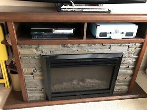 Fireplace TV unit