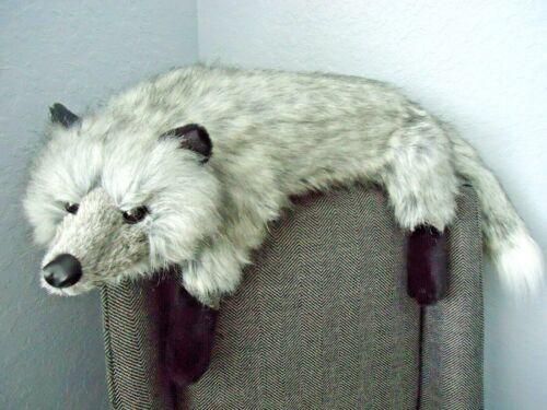 RARE Ditz Hen House Gray Silver Sly Fox Plush 31 inches