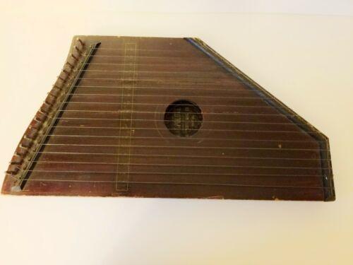 ANTIQUE HARPOLUTE BOSTON MASS HARP LUTE SMALL STRING MUSICAL INSTRUMENT VTG 1892