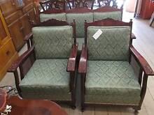 Antique Vintage Jacobean Lounge Suite Set Queen Anne Style Cane Queenstown Port Adelaide Area Preview