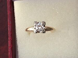 STUNNING Vintage Diamond Engagement Ring $3000 Appraisal!! VS1
