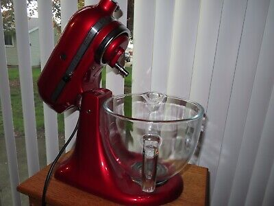 KitchenAid Deluxe Edition 5qt 10 Speed Tilt Head Stand Mixer Candy Apple Red