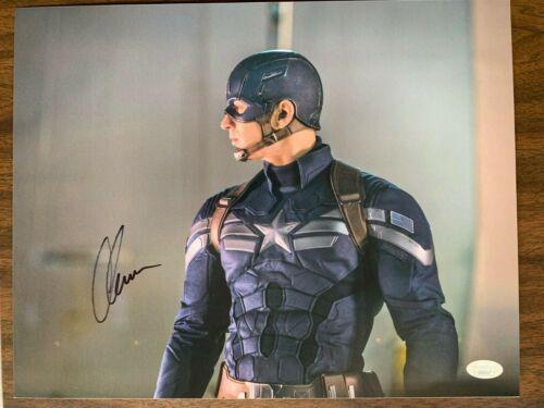 Captain America Chris Evans Autographed Signed 11x14 Photo JSA COA