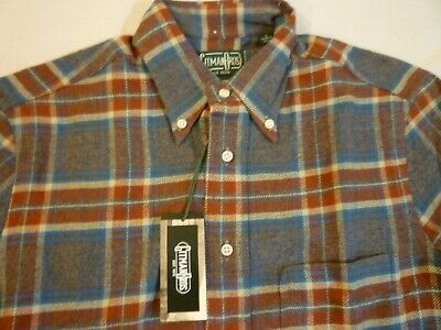 GITMAN BROS VINTAGE Gray Plaid Flannel New WO Tags $215 S Made In USA