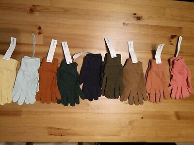 Johnstons of Elgin Women's Gloves 100% Lambs Wool grey *LAST PAIR*