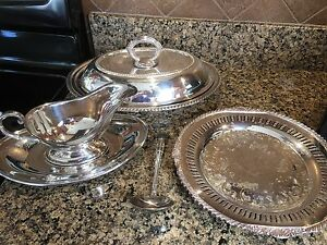 WM Rogers & Sons- Silver Dinner serving dishes