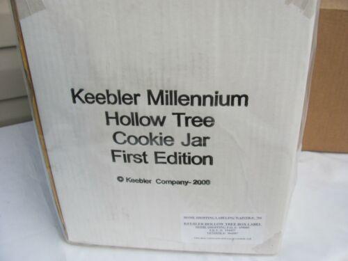 Keebler Millennium Hollow Tree Elf Cookie Jar First Edition 2000 New in Box