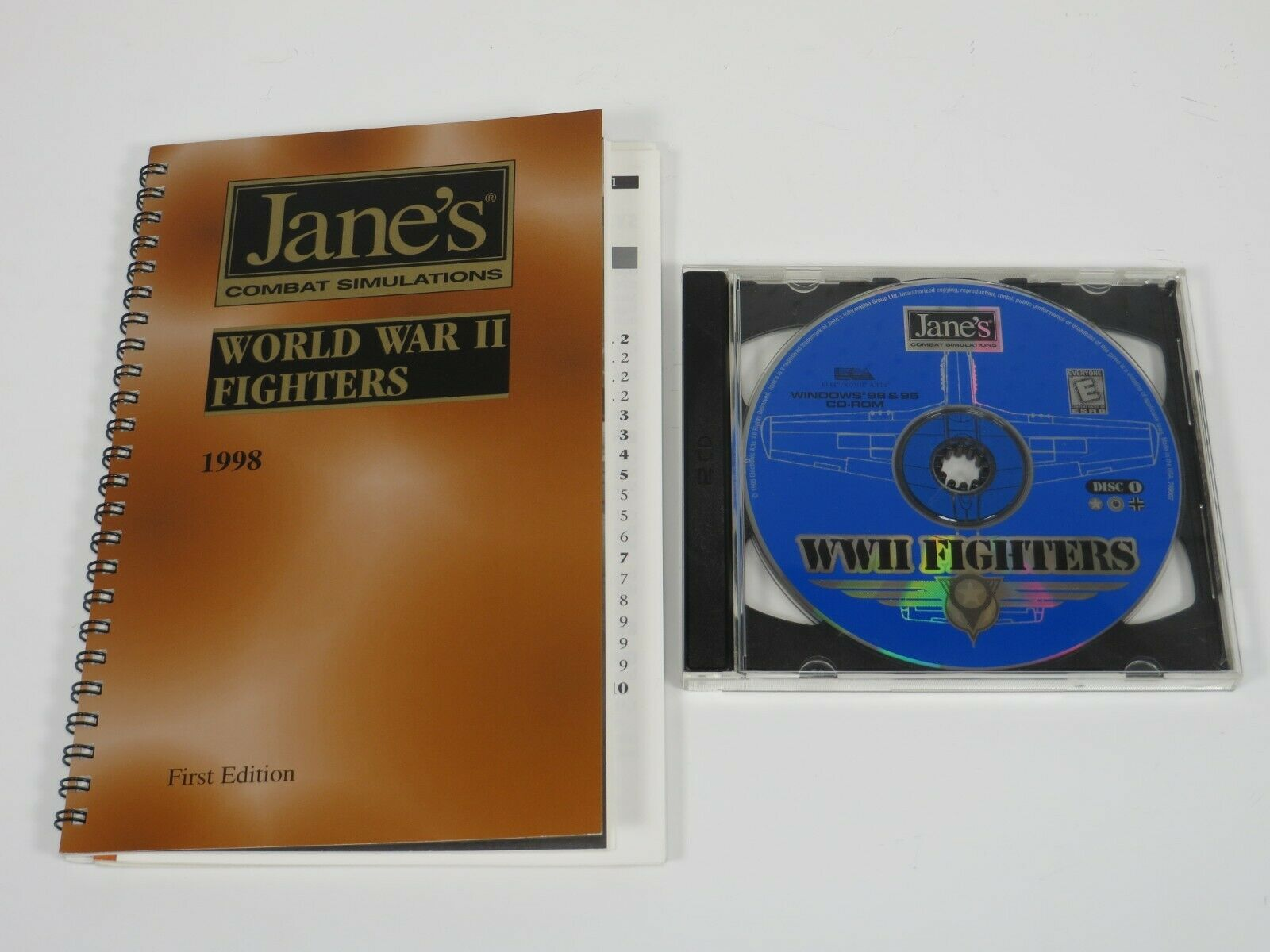 Computer Games - Jane's WWII Fighters (PC, 1998) PC Vintage Computer Game Electronic Arts