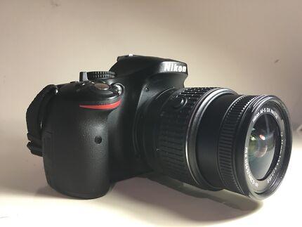 Nikon d5200 w 18-55mm VR II