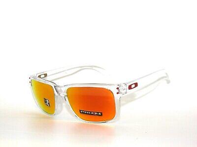 Oakley Holbrook 9102-H4 Polished Clear Prizm Ruby Sunglasses (Sun Glasses Clearance)