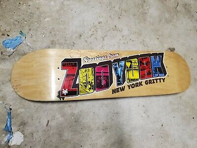 Rare Collectible Zoo York Postcard New York Gritty Skateboard Deck