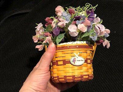 Longaberger May series Miniature Sweet Pea Basket 2007
