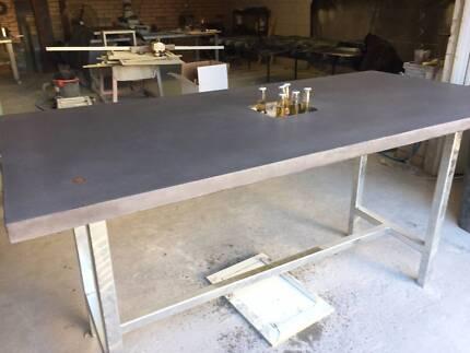 Polished Concrete Bar Table