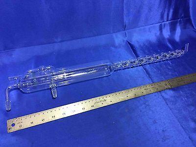 Large Vigreux Condenser Distillation Column 620mm Oal