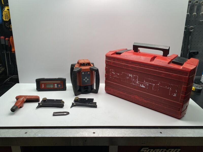 HIlti PR 20 Pulse Power Rotating Laser Level w/ PRA 20 Receiver in Case