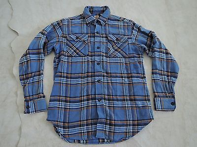Sugar Cane Check Work Shirt Made In Japan Size:S // blue