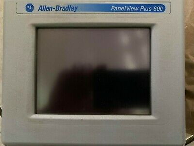 Allen Bradley Panelview Plus 600 2711p-t6c5d Ser D Operator Interface Panel