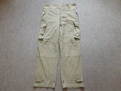 VTG 50s French Army Military M47 Cotton Twill Field Cargo Trouser Pants 35 37/30
