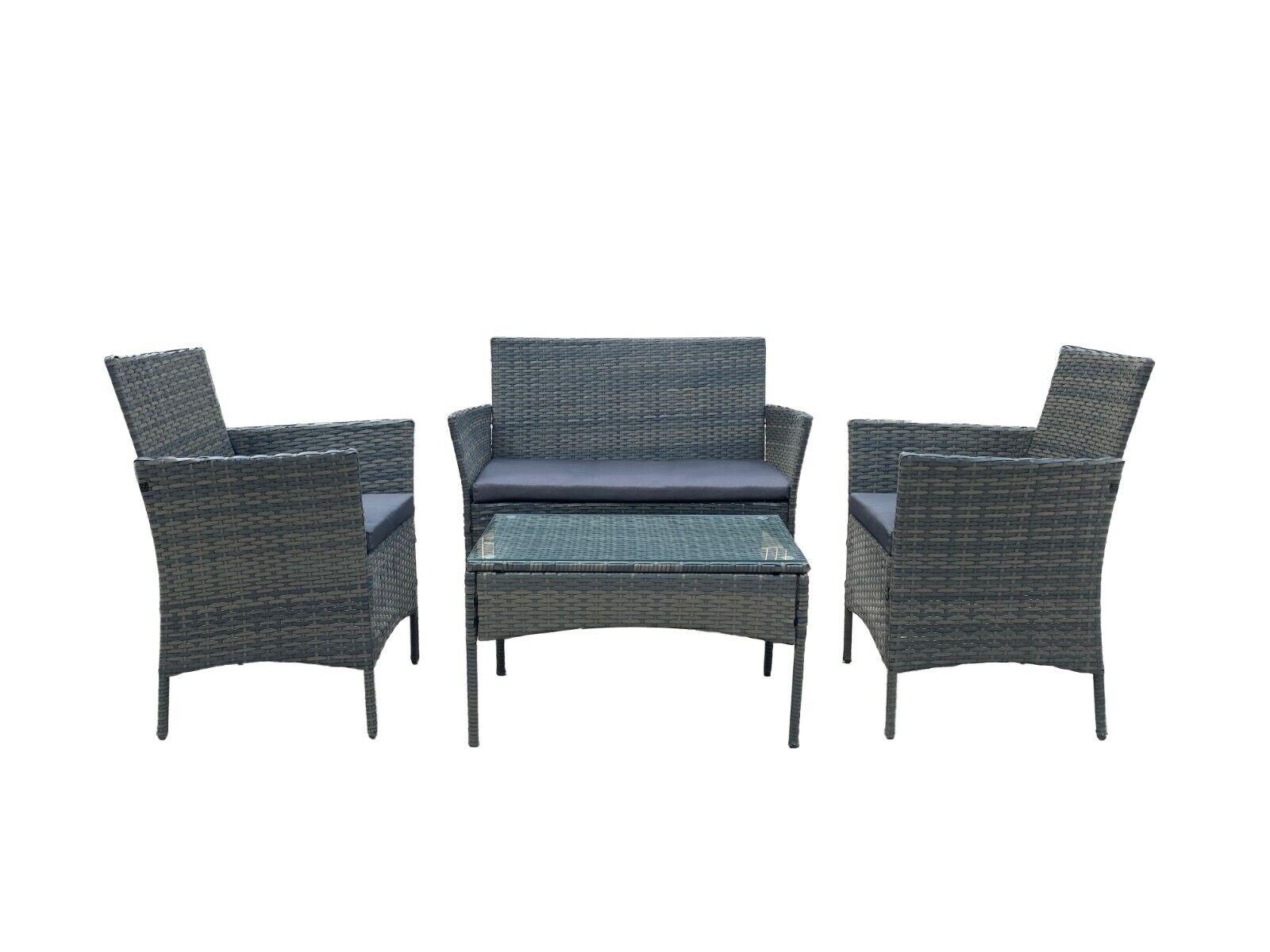 Garden Furniture - Rattan Garden Furniture Set Conservatory Patio Outdoor Table Chairs Sofa Seat
