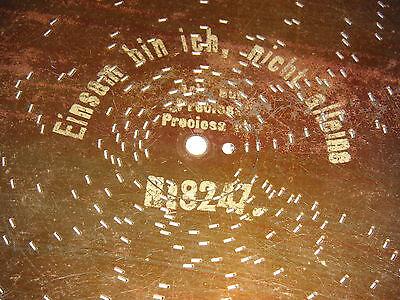 Einsam bin ich nicht alleine Monopol Blechplatte 24,9cm Spieluhr  music box disc