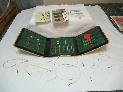 1960'S SEARS KNITTING NEEDLE KIT #5792 CIRCULAR TRI-FOLD CASE (AD 81)