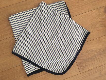 set of 2 x PUMPKIN PATCH baby blankets