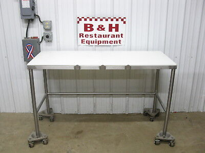 60 X 24 Stainless Steel Butcher Cutting Board Poly Top Cut Work Table 5 X 2