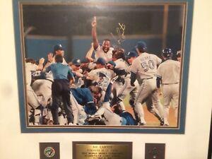 Joe Carter - signed World Series print