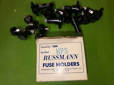 Bussmann Hps 30a 1-pole 1.80 Fuse Holder Lot Of 8 Fuse Holders 7 Fuse Caps