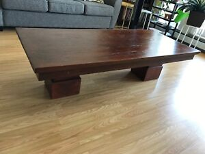 Mango Wood Cocktail Table & End Table