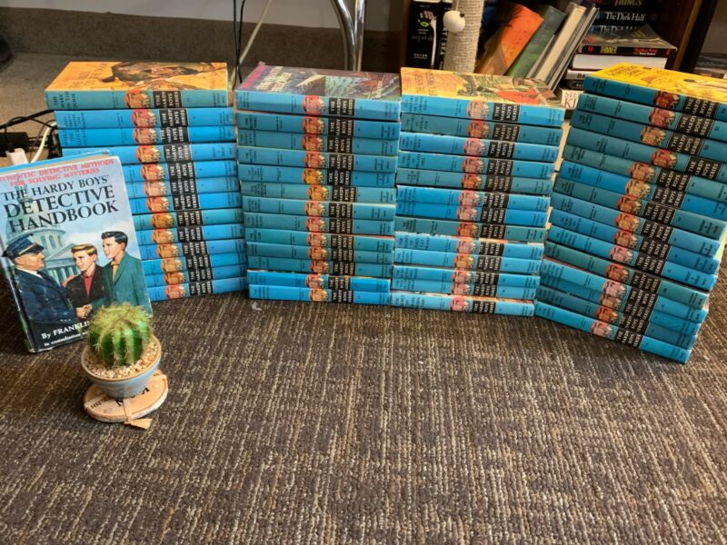Lot of Hardy Boys Books Set Hardcover #1-54 and additional Detective Handbook