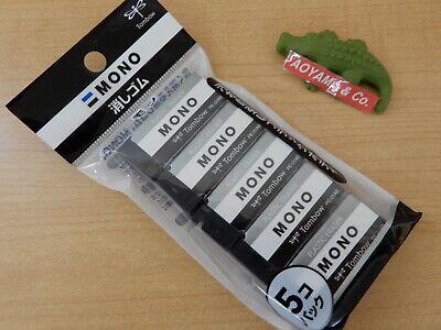Tombow Mono Plastic Eraser Pe01 Black 5-pack Jcc-561