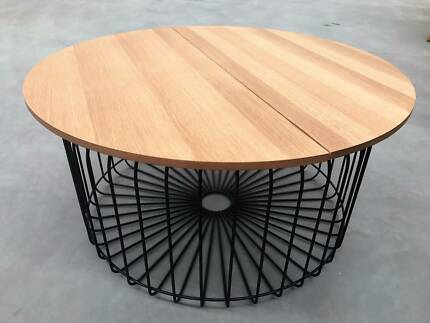 Wire coffee tables australia wire center new scandinavian grey round timber oslo coffee table coffee tables rh gumtree com au wire side tables australia industrial coffee table greentooth Images