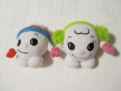 "5"" Scholastic Boy & Girl Snowball in Hat & Earmuffs Plush Stuffed Toys - Stuffed Snowballs"