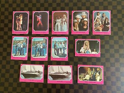 RARE 1976 Scanlens ABBA Trading Cards - Lot of 12 Cards - Including #1