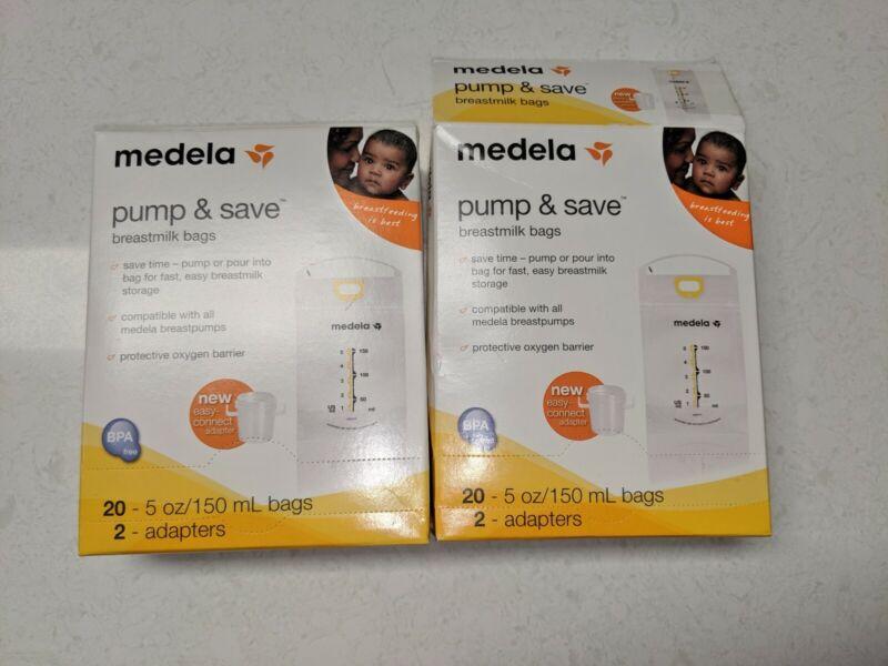 Medela Pump And Save Breast milk Bags 1 Sealed Box +