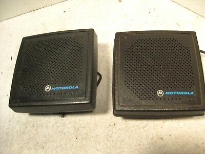 Pair Motorola Two-way External Radio Speakers